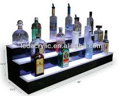 Floating Bar Cabinet Illuminated Floating Light Shelf Display Led Liquor Cabinet Bottle