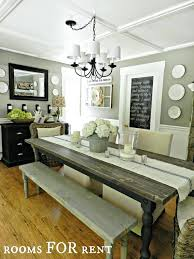 Rustic Dining Room Table Decor Farmhouse Style Dining Room Decor Katecaudillo Me