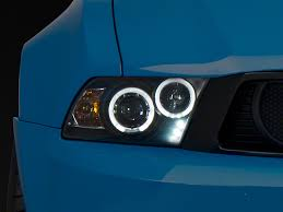 halo light installation near me axial mustang black projector dual halo headlights led 102565 10