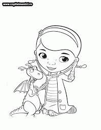 desene colorat cu doctorita plusica consulta dragonul planse