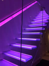 beaconsfield floating glass staircase rgb led lit concept stairs