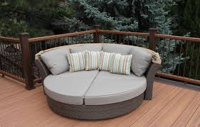 Daybed With Canopy Patio Daybed With Canopy Wooden Deck Pattern And Greey Cushion