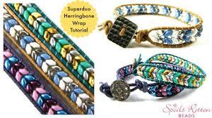 wrap bracelet tutorials images Superduo herringbone wrap tutorial jpg