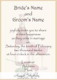 formal wedding invitation wording informal wedding invitation wording from and groom