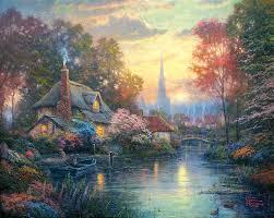 416 best thomas kinkade images on kinkade paintings art thomas and acrylic paintings