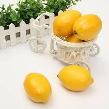 5pcs lifelike artificial plastic lemon fruit imitation kitchen