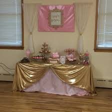 Pink And Gold Baby Shower Decorations by Pink And Gold Royal Baby Shower Desert Table Candy Buffet Royal