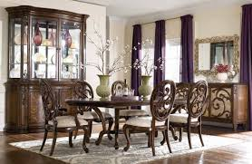 China Cabinet And Dining Room Set American Drew Jessica Mcclintock Couture Palladian China Cabinet