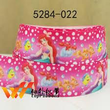 mermaid ribbon free shipping mermaid ribbon printed ribbon 7 8 50 yards 5284 022