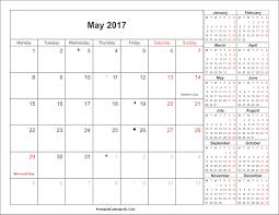 may 2017 calendar with holidays 4 printable calendar 2017 2018 2019