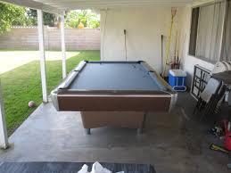 Table Nine Nine Foot Amf Patio Pool Table Dk Billiards U0026 Service Orange