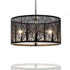Schlafzimmer Lampe E27 Hängelampe Hängeleuchte Natura Deckenlampe 40cm Natur Wald