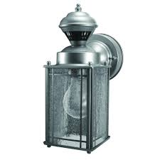 Heath Zenith Dusk To Dawn Lighting by Heath Zenith Shaker Cove Mission 150 Degree Silver Motion Sensing