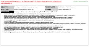Emt Resume Examples by 100 Emt Resume Sample Phlebotomist Resume Samples Visualcv