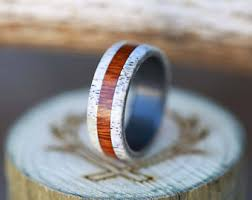 Antler Wedding Rings by Design A Wedding Band Handmade From Unique By Stagheaddesigns
