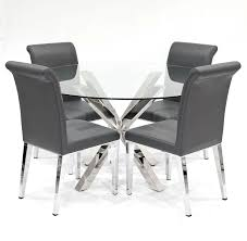 Grey Dining Chairs Crossly Dining Table And Grey Kirkland Dining Chair Set Be Fabulous