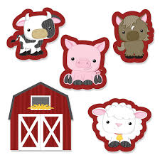 cut outs farm animals shaped party paper cut outs bigdotofhappiness