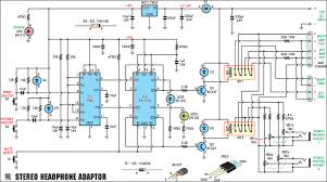stereo headphone amplifier adapter circuit diagram world
