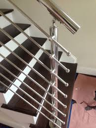 Metal Stair Banister Mirror Finished Stainless Steel Stair Rail Atlantic Railing