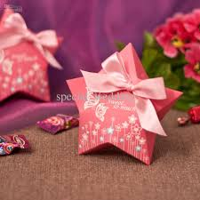 sweet butterfly print candy boxes paper flower pink bowknot ribbon