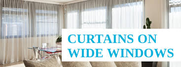find out how to choose curtains for wide windows brisbane gold