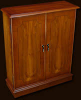 cd storage cabinet with doors marshbeck yew mahogany reproduction furniture traditional cd