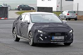 hyundai i30 elantra fastback spied could come to us as affordable