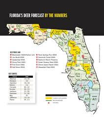 Map Florida Counties by 2015 Trophy Deer Forecast Florida Game U0026 Fish