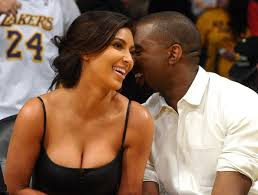 Photos     Kanye West and Kim Spotted Smilling Together at the Lakers vs Denver Nuggets Quarterfinals Game MJ Celebrity Magazine