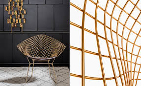 Home Design Gold Edition by Furniture Home Harry Bertoia Gold Diamond Chair Knoll 4 Design