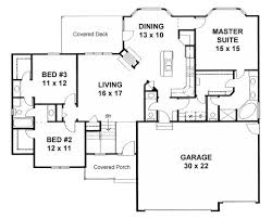 3 bedroom floor plans with garage plan 1625 3 bedroom ranch w in suites 3 car garage