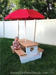 Kids Outdoor Picnic Table Build A Nautical Kids Picnic Table Hometalk