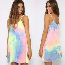 neon tie dye dress from love143