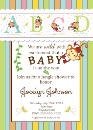 jungle baby shower invite fisher price alphabet baby shower invitations 8 99 rainforest