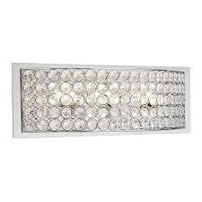 Chrome Bathroom Vanity Lights by Shop Kichler Krystal Ice 3 Light 5 98 In Chrome Rectangle Vanity