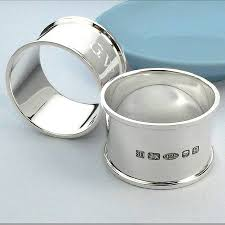 personalised silver napkin ring by hersey silversmiths