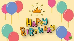 royal birthday card saying with balloons nicewishes