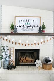 u0026 flannel christmas mantel