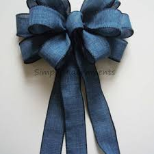 decorative bows blue denim wedding aisle decor bow blue from simply adornments