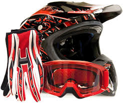 motocross gear for kids amazon com offroad helmet goggles gloves gear combo dot