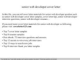 Senior Web Designer Resume Sample Download Web Developer Cover Letter Examples