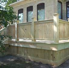 wood deck with composite railing trends compare best decking