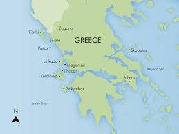 Ithaca Map Ionian Wandering U2013 Map U0026 Itineraries Simpson Travel