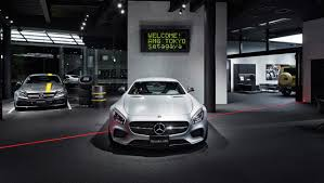 mercedes showroom interior first standalone mercedes amg showroom opens in tokyo