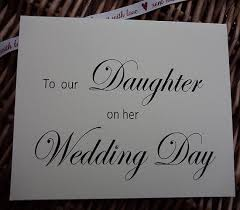 Wedding Day Card Wedding Card To Our Daughter On Her Wedding Day Wedding Card
