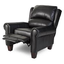 Leather Kids Chair Barcalounger Charleston Leather Push Back Recliner Black Hayneedle