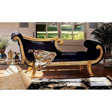 egyptian furniture egyptian design toscano cleopatra neoclassical chaise