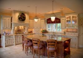 wonderful large kitchen island with brown granite tabletop also