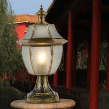 Patio Post Lights Mido European Classical Copper L Post Lights Door Pillars