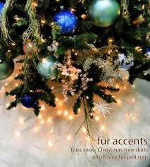 fur accents tree skirt plush shaggy